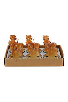 NONE Reindeer tea lights 6-pack 55mm
