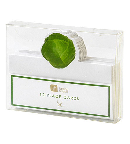TALKING TABLES Botanical sprout place cards pack of 12