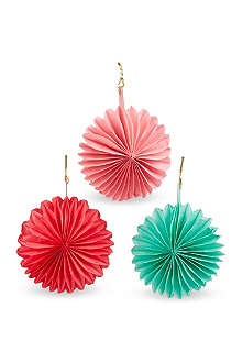 TALKING TABLES Fan baubles 12 pack