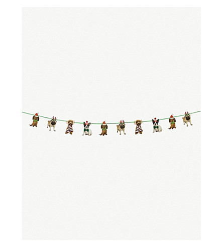 TALKING TABLES Christmas entertainment pooch garland