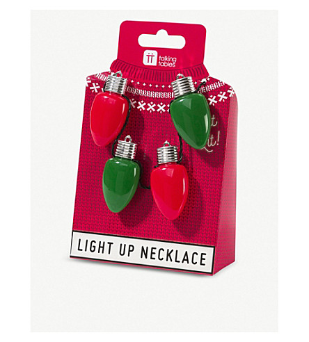 TALKING TABLES Christmas entertainment light up necklace