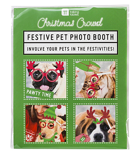 TALKING TABLES Christmas entertainment pet photo booth props