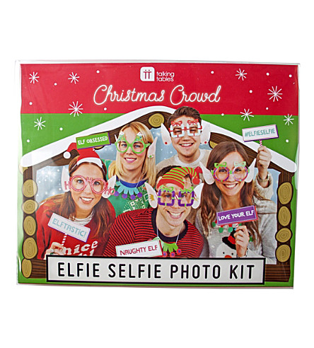 TALKING TABLES Christmas entertainment elfie selfie photo kit