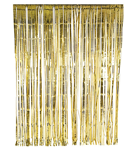 TALKING TABLES Glitterati gold foil curtain