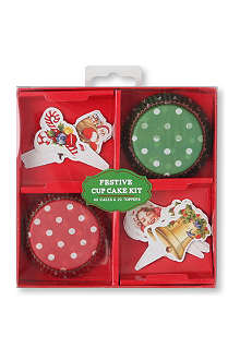 TALKING TABLES Jolly Holly cupcake kit