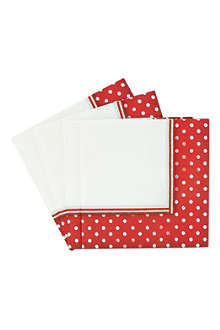 TALKING TABLES Jolly Holly set of 20 paper napkins