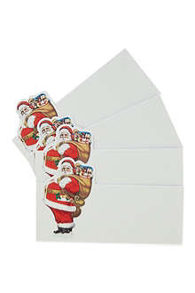 TALKING TABLES Jolly Holly set of eight placecards