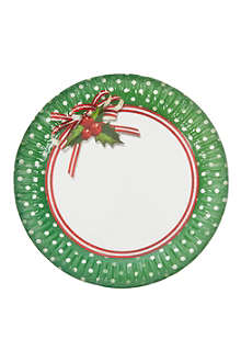 TALKING TABLES Jolly Holly pack of eight paper plates 23cm