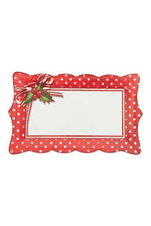 TALKING TABLES Jolly holly paper platters 4 pack