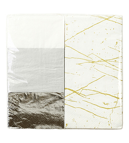 TALKING TABLES Metallic narrow napkins
