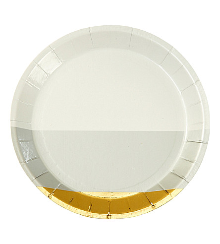 TALKING TABLES Metallic canape plates