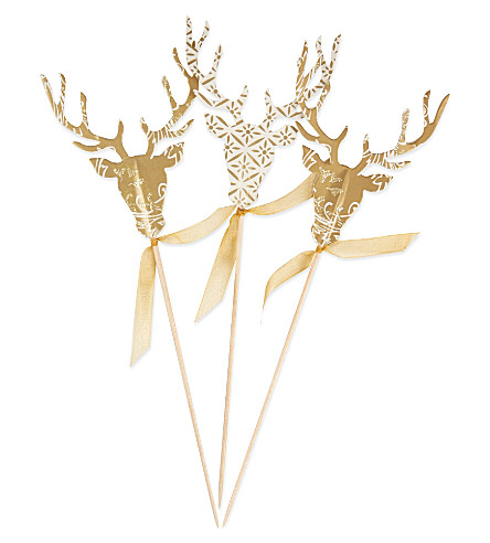 PARTY Reindeer canape picks 12 pack