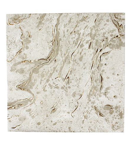 TALKING TABLES Gold marble napkins pack of 16