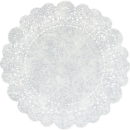 TALKING TABLES Pack of 24 snowflake doilies