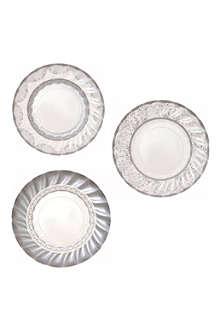 TALKING TABLES Silver paper plates pack of 12