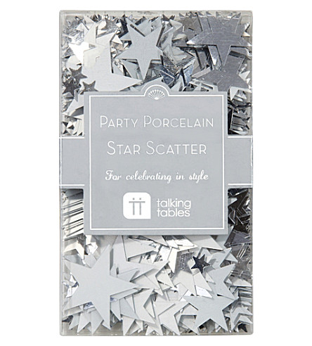 TALKING TABLES Silver star scatter