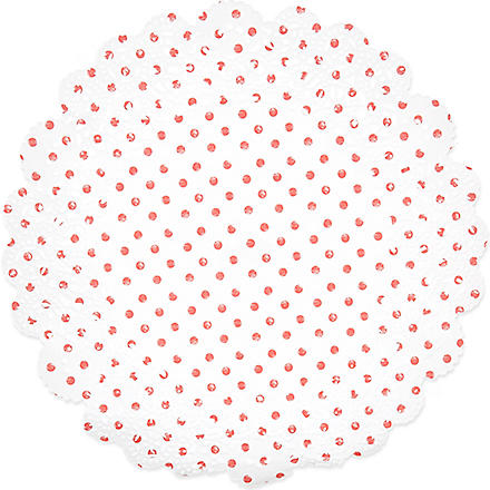 TALKING TABLES Polkadot doilies