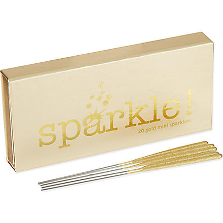 TALKING TABLES Pack of 10 gold mini sparklers