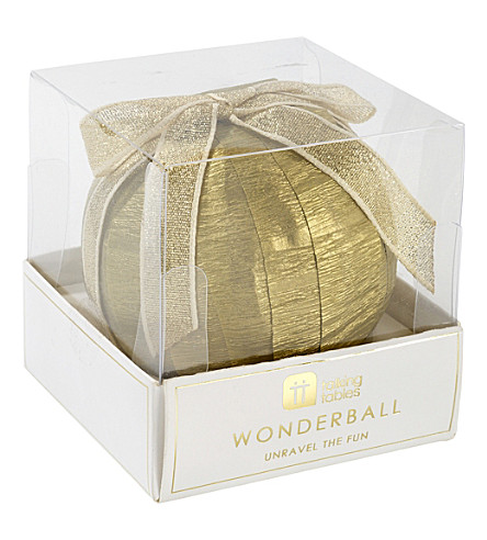 TALKING TABLES Gold wonderball