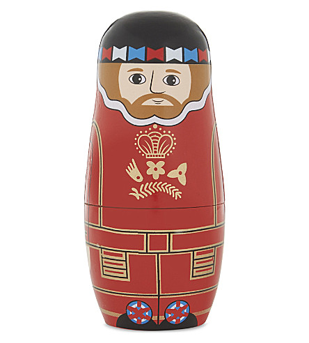 ST NICOLAS Beefeater wooden Matryoshka doll set