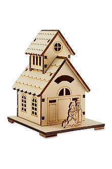 PREMIER DECORATIONS Wooden LED house