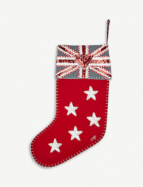 jan constantine sequin embellished woven stocking 46cm - Christmas Decorations For Stockings