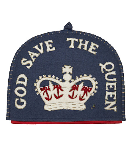 LONDON God save the queen tea cosy