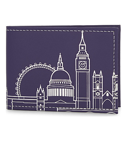 UNDER COVER London skyline recycled leather card holder