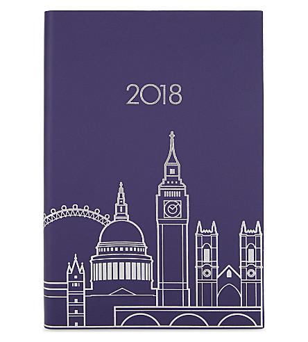UNDER COVER London skyline A5 2018 diary