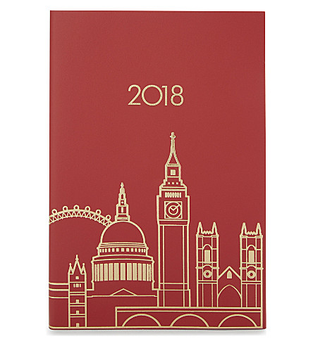 UNDER COVER London skyline A5 2018 diary