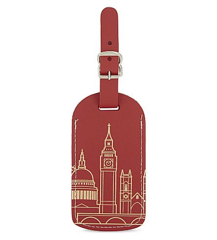UNDER COVER London leather luggage tag