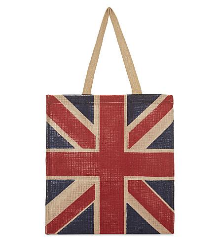 LONDON Union Jack jute bag
