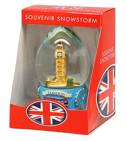 LONDON Big Ben snowstorm globe 65mm