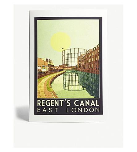 EAST END PRINTS Regent's Canal A3 print
