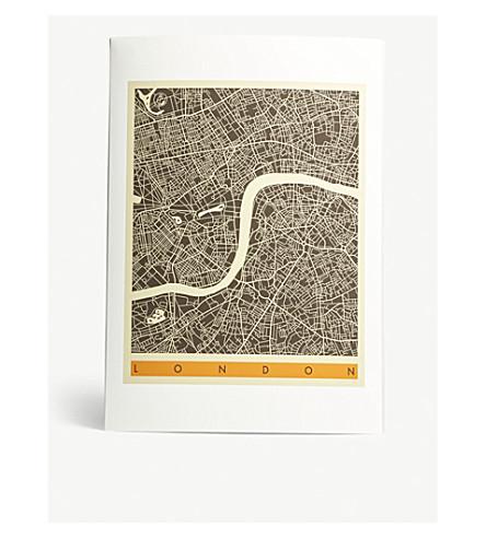 EAST END PRINTS London Map A3 print