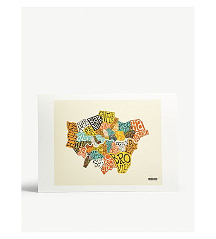 EAST END PRINTS London Boroughs A3 print