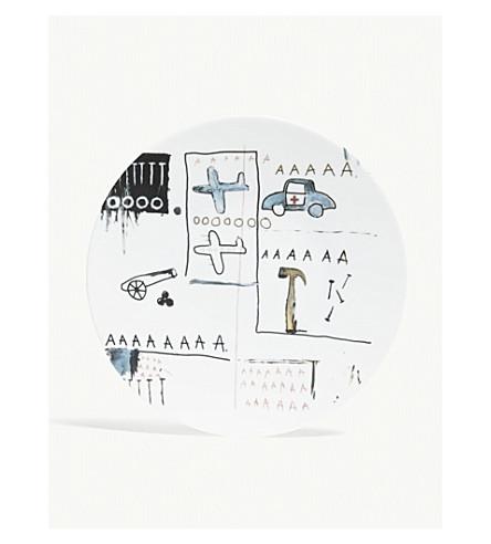 LIGNE BLANCHE Jean-Michel Basquiat porcelain plate 21cm
