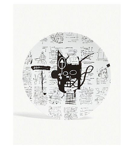 LIGNE BLANCHE Jean-Michel Basquiat large porcelain plate 27cm