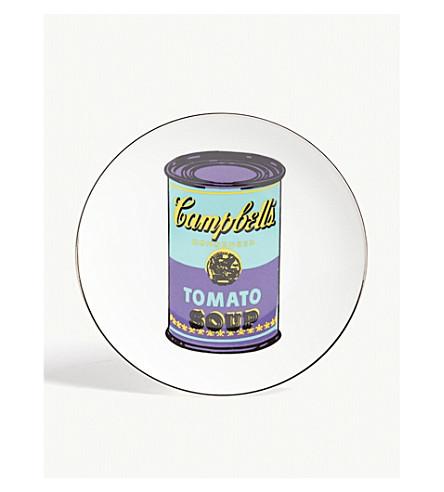 LIGNE BLANCHE Campbell's Soup Can porcelain plate 21cm