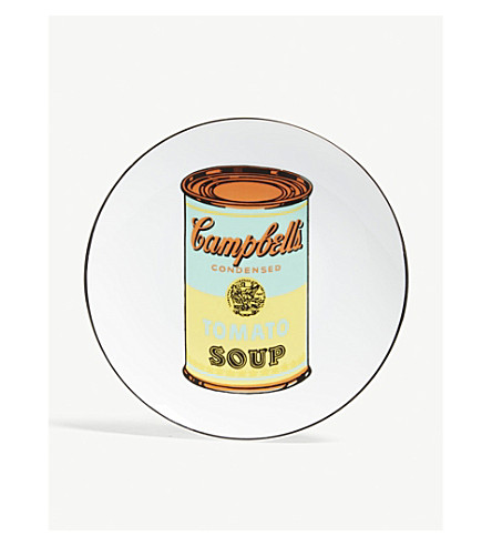 LIGNE BLANCHE Andy Warhol porcelain plate 21cm
