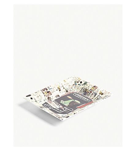 LIGNE BLANCHE 'Glenn' Limoges porcelain tray 20cm