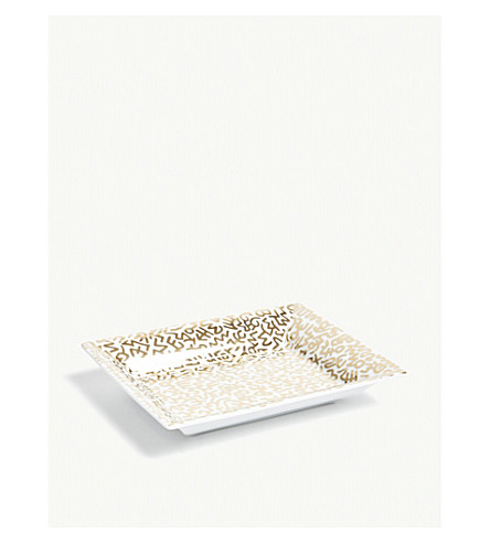 LIGNE BLANCHE Keith Haring porcelain tray 20cm x 16cm