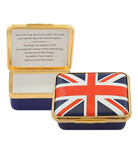 HALCYON DAYS The Union Jack Flag enamel tin