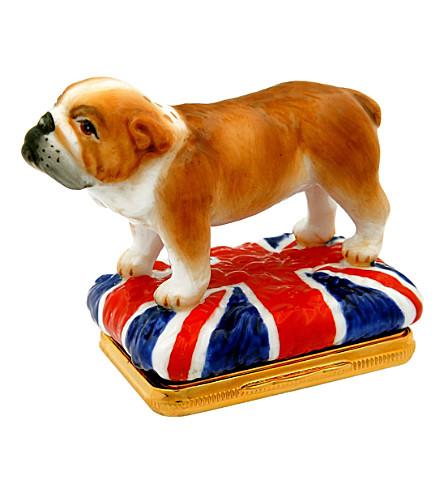 HALCYON DAYS British bulldog bonbonniere