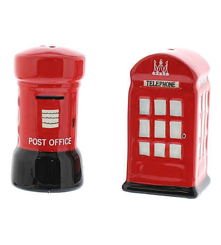 LONDON Phone and postbox salt and pepper shakers set