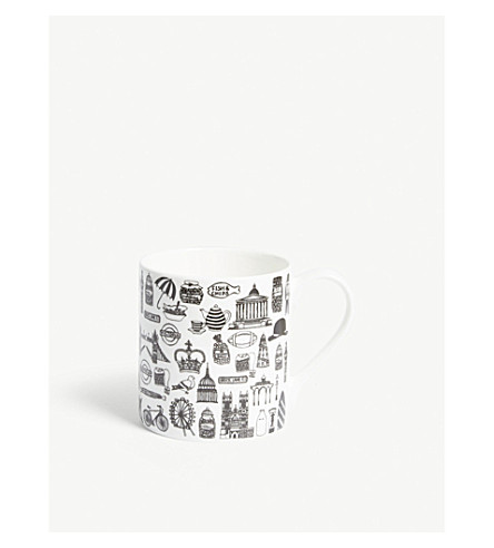 All Things British fine bone china mug