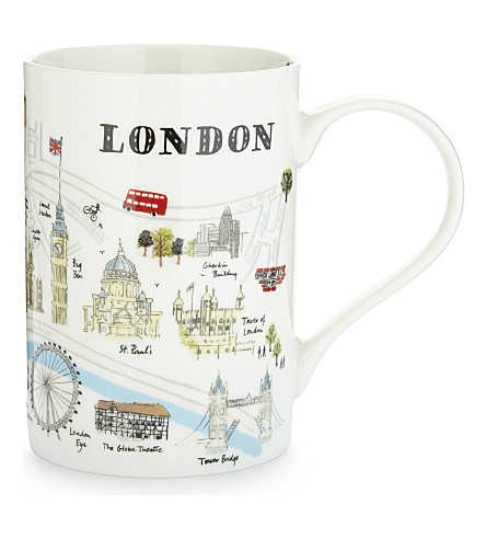 LONDON 'Map of London' patterned mug