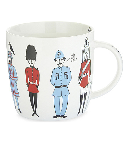 ALICE TAIT 'Guards of London' ceramic mug
