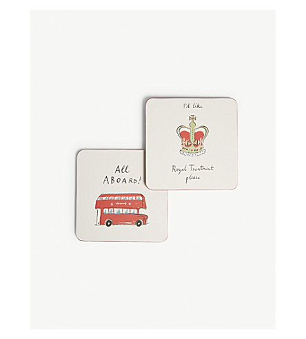 ALICE TAIT London coasters 4-pack