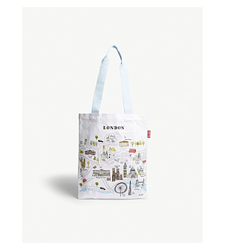 ALICE TAIT London map canvas shopper